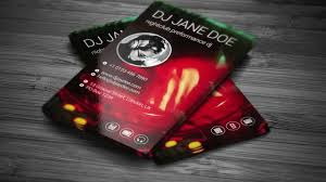 dj business card template youtube