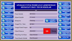 format absensi ujian download aplikasi administrasi ujian nasional sekolah semester sd