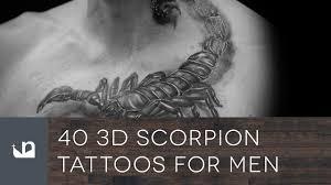 40 3d scorpion tattoos for