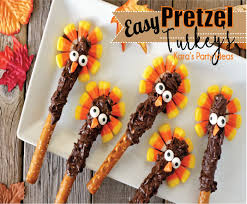kara s ideas easy thanksgiving pretzel turkeys recipe