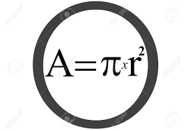 Area Formula by Circle Area Equation Stock Photo Picture And Royalty Free Image