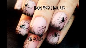 spider nails easy 3d halloween glow in the dark nail art design