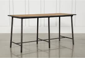 Oak Bar Table Washed Oak Waxed Black Legs Bar Table Living Spaces