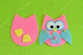 felt owl ornament tutorial stock photo onlyzoia 112581842