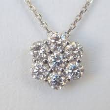 diamond flower necklace images Diamond flower necklace kloiber jewelers jpg