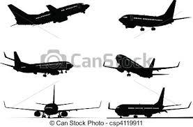 aereo clipart silhouette sei aereo clip vettoriale cerca illustrazioni