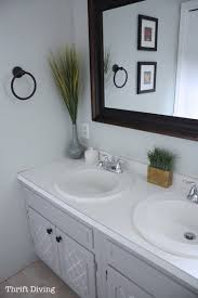 painting bathroom vanity gray