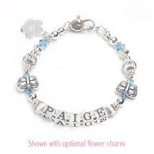 Children S Bracelets Flutterbye Baby U0026 Children U0027s Name Bracelet With Butterfly Beads
