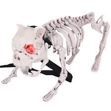 posable halloween skeleton vicious barking skeleton dog menacing fierce halloween decoration
