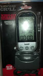 amazon com backyard grill wireless grilling thermometer up to