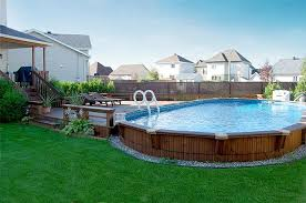 Above Ground Pool Design Ideas Wooden Above Ground Pools Above Ground Wood Pool Packages Are