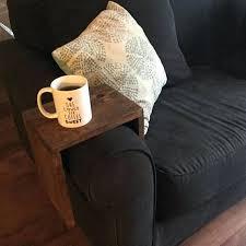 couch caddy sofa armrest table custom couch armrest chair wood