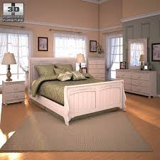 cottage retreat bedroom set ashley cottage retreat sleigh bedroom set 3d model hum3d