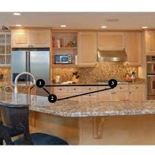 Triangle Kitchen Island Astonishing Kitchen Work Triangle With Island Images Design