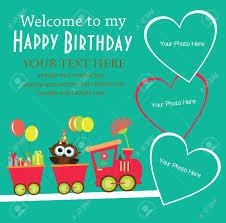 Invitation Card Kid Invitation Card Design Vector Illustration Royalty Free