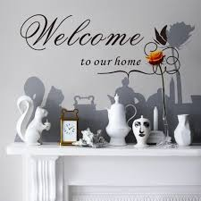 welcome to our home quote wall decals decorative adesivo de parede welcome to our home quote wall decals decorative adesivo de parede removable vinyl wall stickers in wall stickers from home garden on aliexpress com
