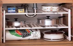 under sink organizer kitchen pull out storage drawers under sink