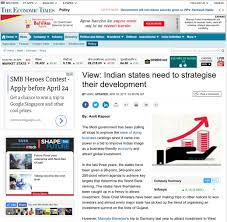 Indian States Indian States Need To Strategise Their Development Institute For