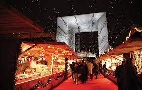 christmas village on la défense esplanade celebration paris