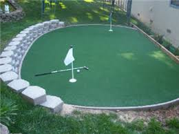 recommendations on maintaining synthetic putting greens golf
