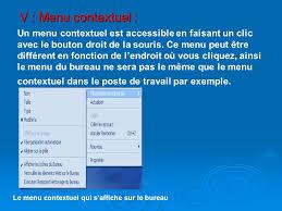bureau ne s affiche pas dossier et fichier un menu contextuel est accessible en faisant