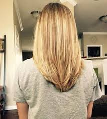 upside down v shape haircut v shape in the back with some long layers hair pinterest