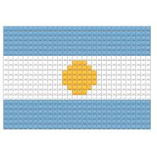 Argentina Flag Photo Flag Of Argentina Flag Pixel Art U2013 Brik
