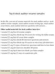 auditor resume exles top 8 stock auditor resume sles 1 638 jpg cb 1432787193