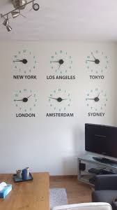 clock city names name wall stickers and track clock city names