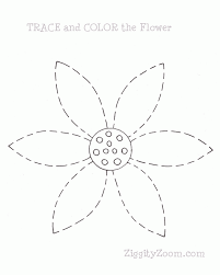 tracing practice flower printable ziggity zoom
