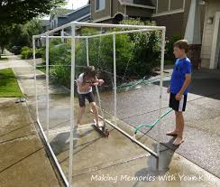 wedding arch pvc pipe ride thru sprinkler tutorial memories with your kids
