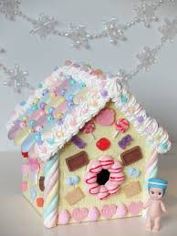 kawaii gingerbread house donuts polymer clay pastel christmas