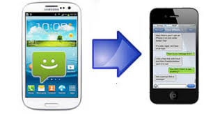 message android how to transfer sms text messages from android phone to an iphone