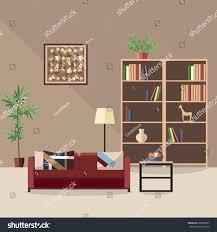 Flat Interior Design Modern Vector Interior Flat Style Design Stock Vector 638805607