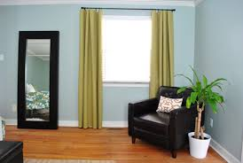 Should Curtains Go To The Floor Decorating No Sew Bedroom Curtains With Fabric And Hem