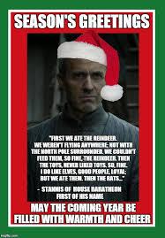 Stannis Baratheon Memes - season s greetings imgflip