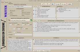 logiciel recette cuisine qrecipewriter écrivez simplement et proprement vos recettes pour