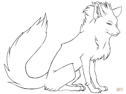 stylish fox coloring page free printable coloring pages