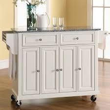 granite top kitchen island darby home co pottstown kitchen cart island with granite top