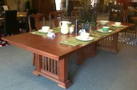 craftsman dining room table with handmade mission by becker