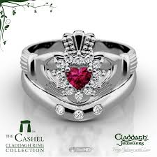 galway ring the cashel ruby gold claddagh wedding set claddagh jewellers