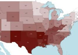 map usa bible belt births map shows conservative states most
