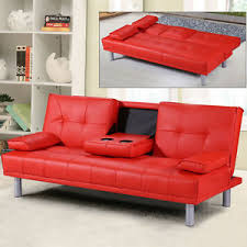 Modern Faux Leather Sofa Modern Faux Leather 3 Seater Sofa Bed Bluetooth Speaker Option