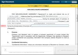 Non Disclosure Statement Template by Non Disclosure Agreement Template Nda Rightsignature