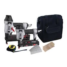 Husky Floor Nailer by Husky Pneumatic Finishing Kit With 18 Gauge Brad Nailer And 23