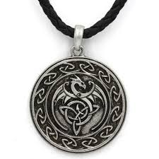 dragon necklace pendant images David kabel mens norse viking dragon necklace pendant viking chain jpg