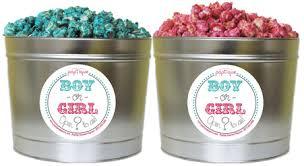 gender reveal 2 gallon popcorn tin poptique popcorn