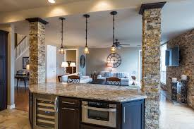 kitchen island columns rustic kitchen with columns pendant light zillow digs zillow