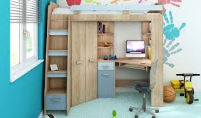 lit superposé avec bureau pas cher lit en hauteur avec bureau fabrication lit mezzanine avec bureau