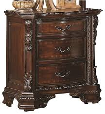 coaster maddison nightstand in brown cherry finish victorian